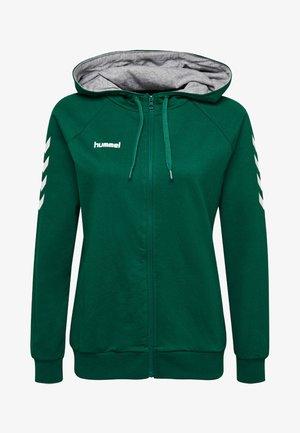 HMLGO - Zip-up sweatshirt - evergreen