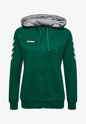 HMLGO - Sweater met rits - evergreen