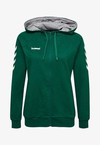 Zip-up sweatshirt - evergreen