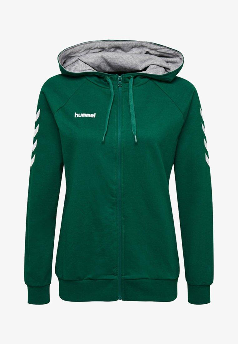 Hummel - HMLGO - Zip-up hoodie - evergreen