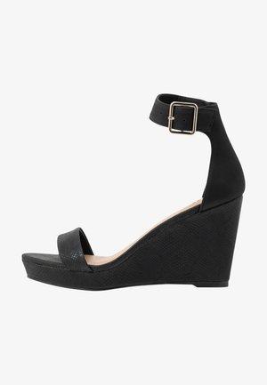 JOSSET - Sandaler med høye hæler - black