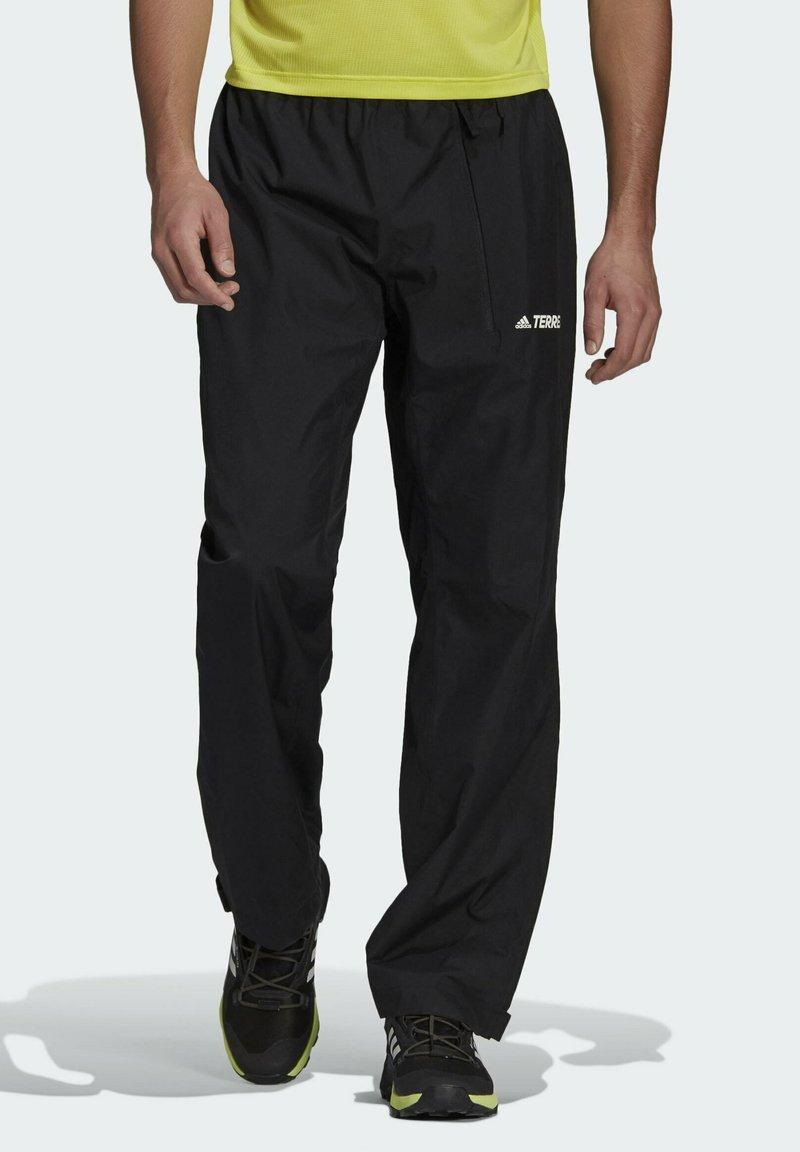 adidas Performance - TERREX MULTI RAIN.RDY PRIMEGREEN TWO-LAYER RAIN TRACK - Träningsbyxor - black