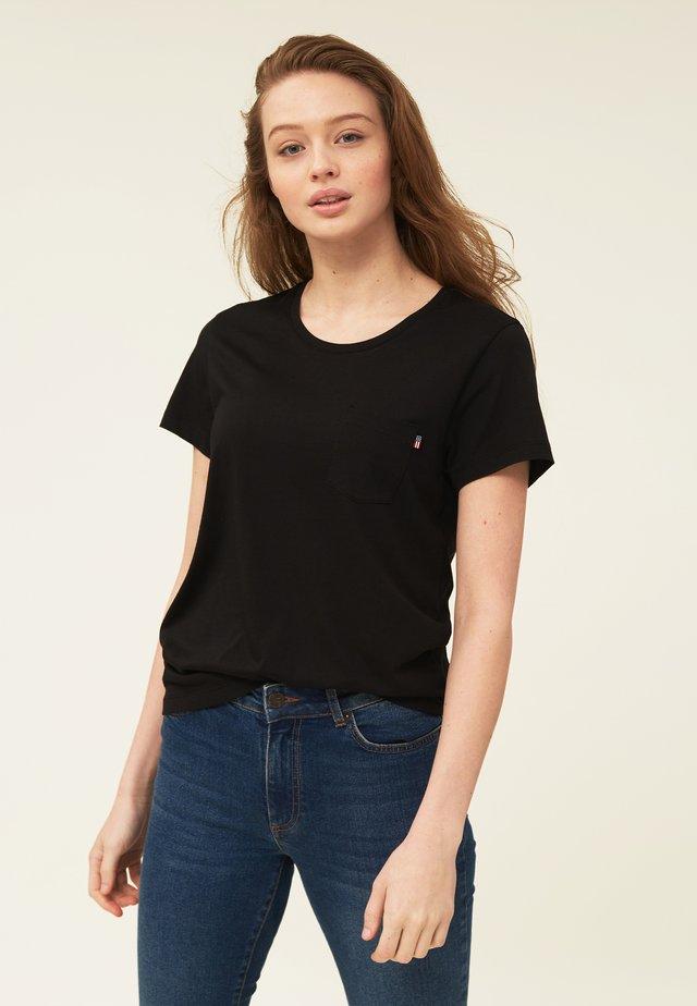ASHLEY TEE - T-shirt - bas - black