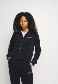 Juicy Couture - TOWEL TANYA TRACK - Zip-up sweatshirt - night sky - 6