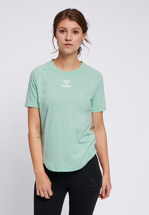 PEYTON  - Print T-shirt - ice green
