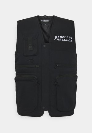 VOSTON UTILITY VEST - Veste - black/white