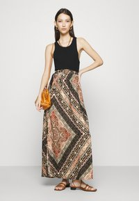 ONLY - ONLCECILIA ANCLE SKIRT WVN - Maxi skirt - hot sauce/spice scarf - 1