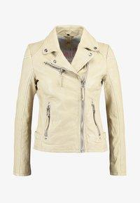 Gipsy - PGG LABAGV - Leather jacket - pale yellow - 4