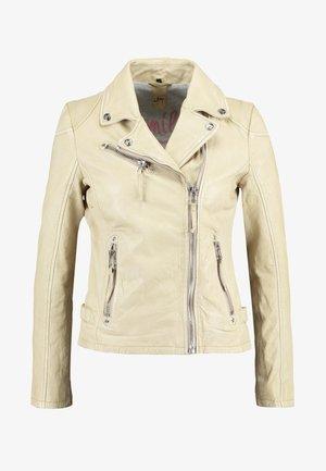 PGG LABAGV - Leather jacket - pale yellow