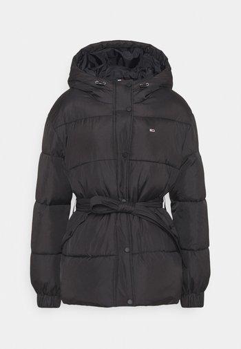 BELTED PUFFER - Winter jacket - black