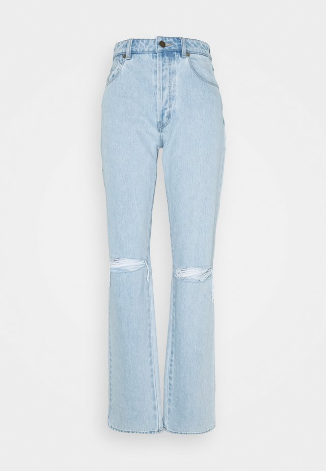 CLASSIC STRAIGHT - Straight leg jeans - destroyed denim