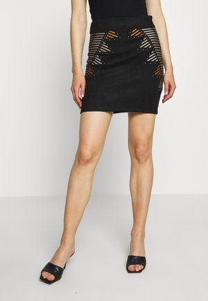 ONLAMINA BONDED SKIRT - Mini skirt - black