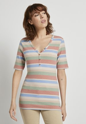 IN RIPP-OPTIK - Print T-shirt - multicolor stripe