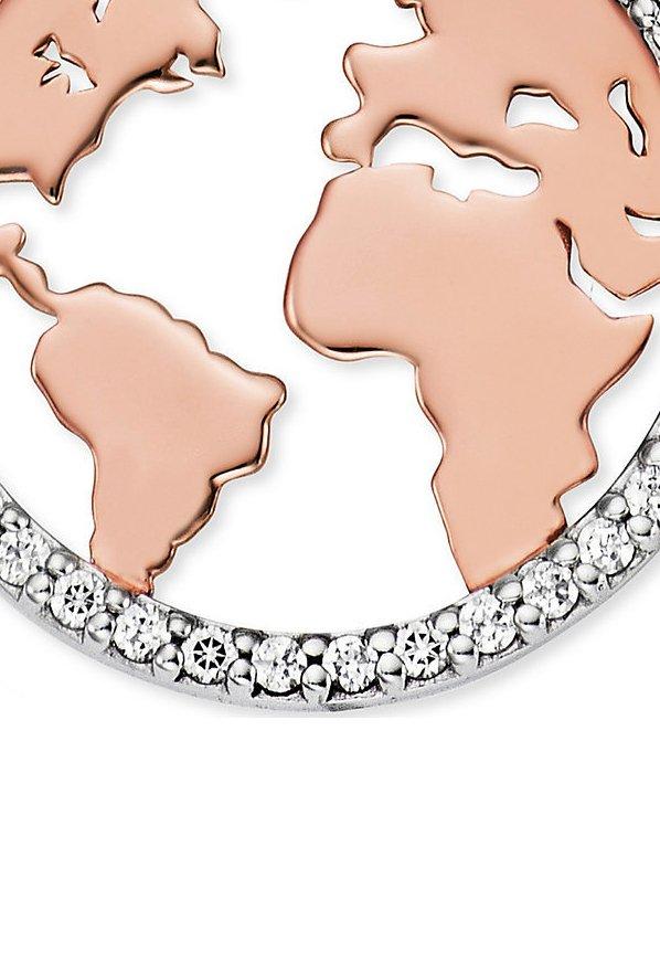 Engelsrufer Damen-kette Kette Welt 925er Silber Zirkonia - Halskette Bicolor/mehrfarbig
