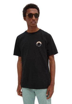 LOGO CREWNECK TEE - Print T-shirt - black