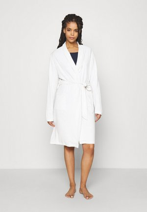 KNITTED BATHROBE - Badjas - mottled light grey