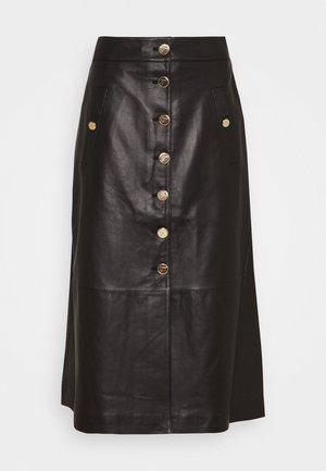 MIDNIGHT SKIRT - Maxi sukně - black