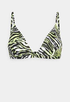 FIXED TRIANGLE PRINT - Bikini top - green