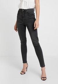 Pieces - PCNINA - Jeans Skinny Fit - dark grey denim - 0