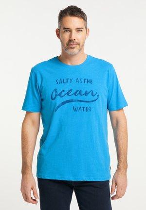 MIT DRUCK - T-shirt print - strongblue