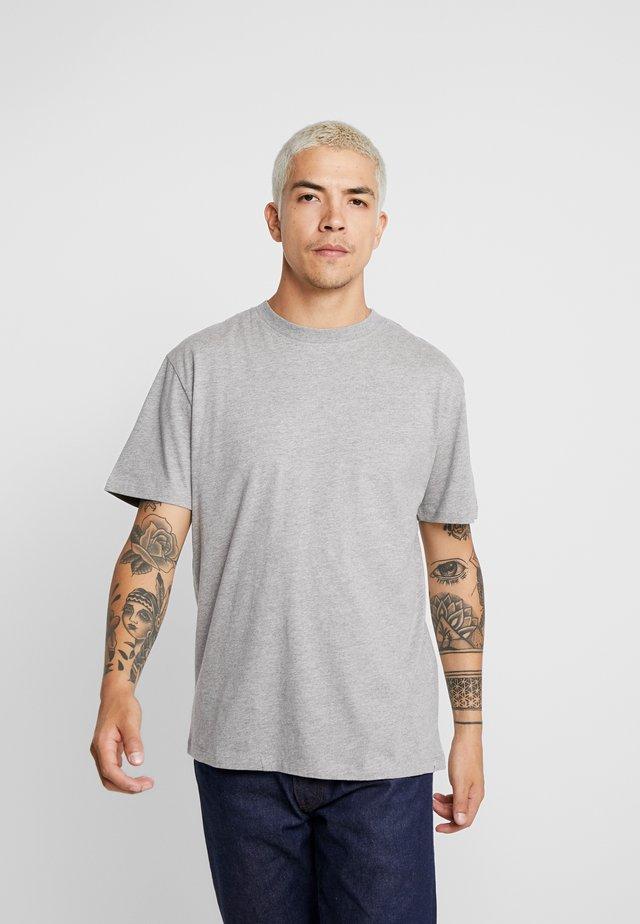 AARHUS - T-shirt basic - light grey melange