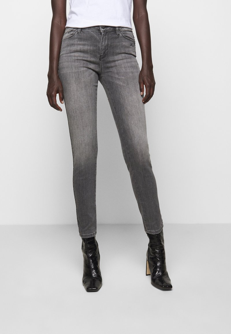 KARL LAGERFELD - CHAIN - Jeans Skinny Fit - grey denim