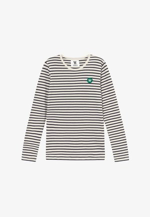 KIM KIDS LONG SLEEVE - Langærmede T-shirts - off-white/navy stripes