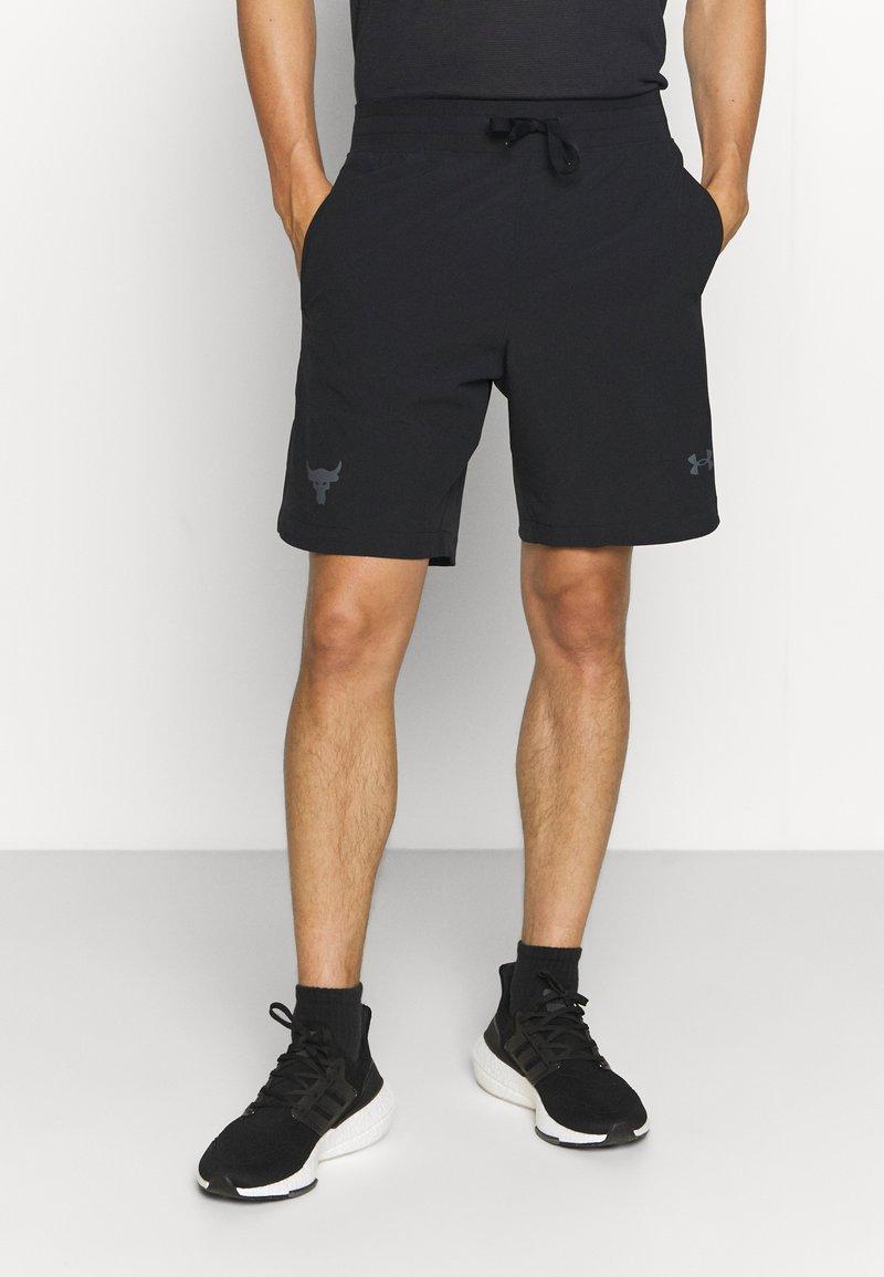 Under Armour - PROJECT ROCK SNAP SHORTS - Pantalón corto de deporte - black