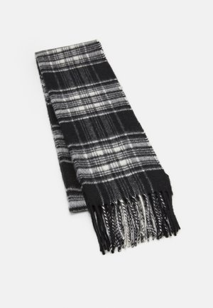 100% Cashmere Tartan Scarf - Sjaal - black/white