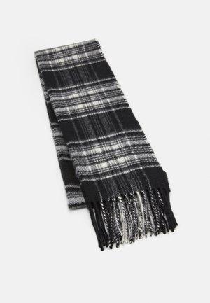 100% Cashmere Tartan Scarf - Scarf - black/white