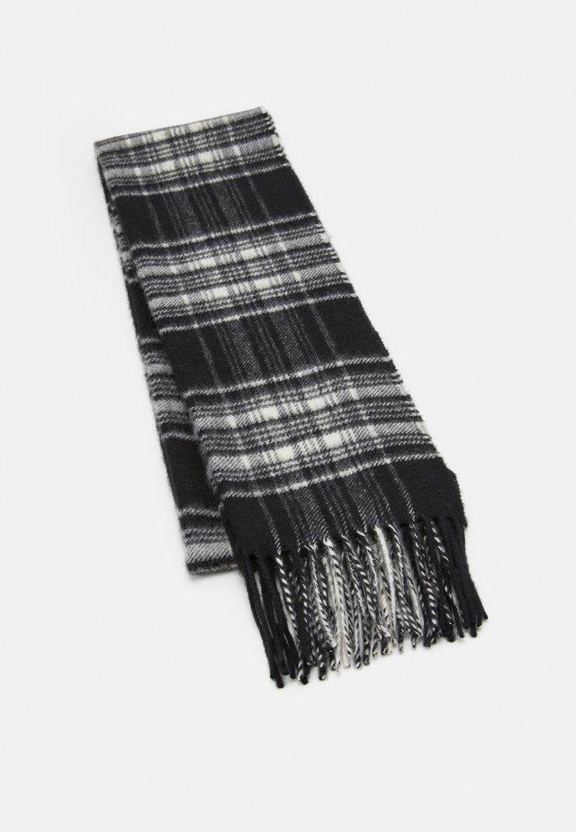 100% Cashmere Tartan Scarf - Écharpe - black/white