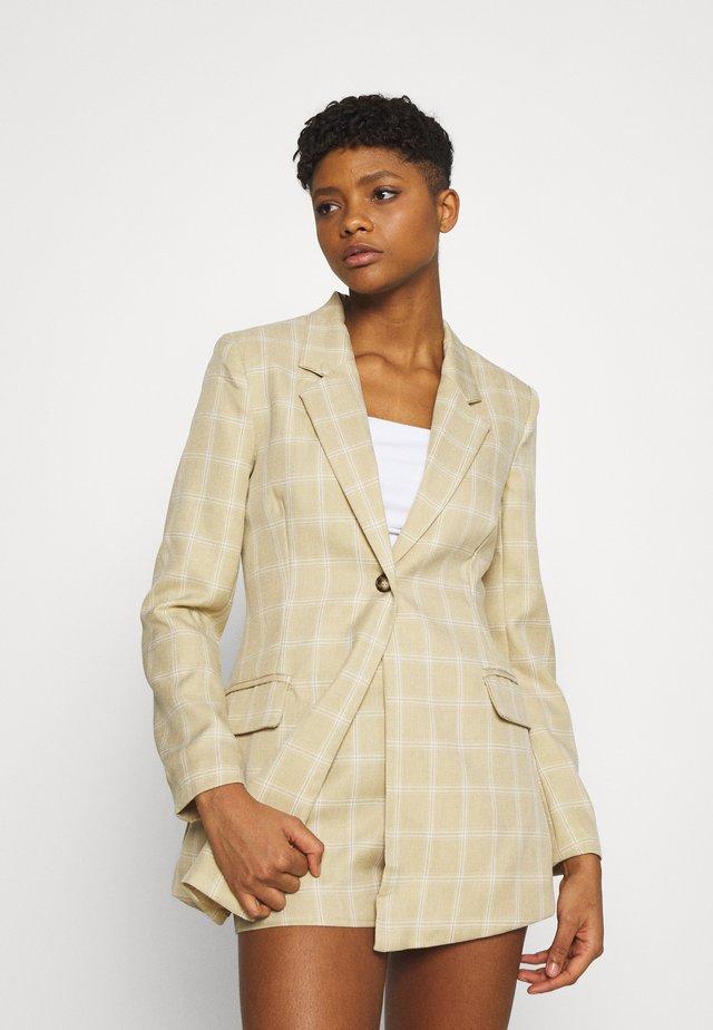 CHECK - Krátký kabát - beige
