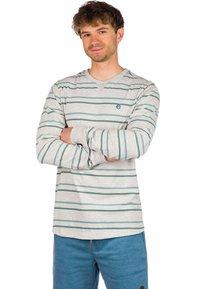 Kazane - Long sleeved top - light heather grey/stripe - 0