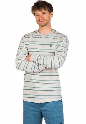 Long sleeved top - light heather grey/stripe