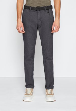 STRUCTURED - Chinos - anthracite