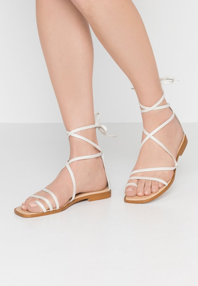 SEAWEED - T-bar sandals - white