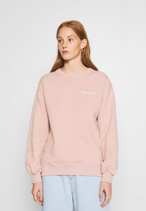 ITALICS SEAMED LOGO CREW - Sweater - pink