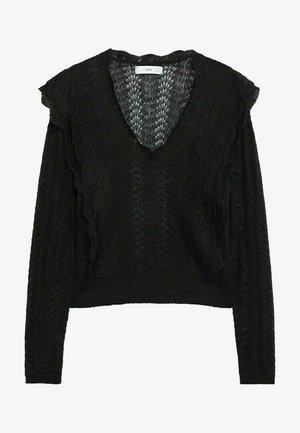 FRILLA - Pullover - schwarz