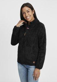 Oxmo - TELSA - Zip-up hoodie - black - 0