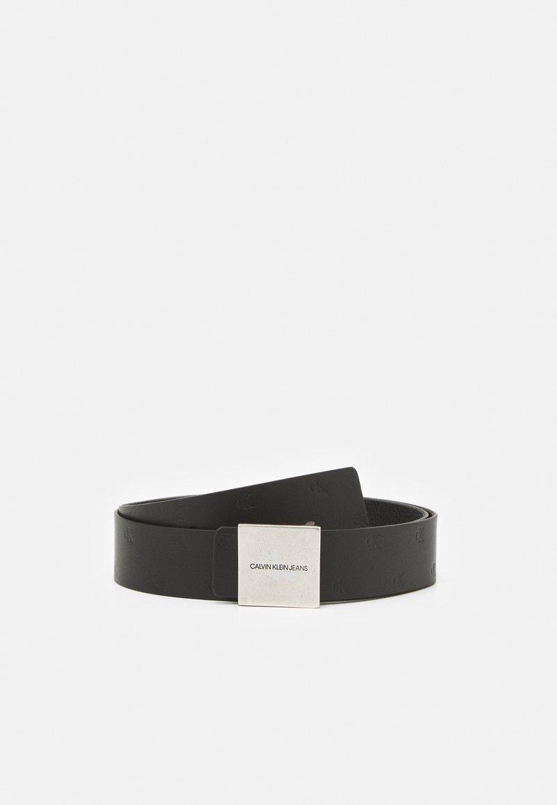 Calvin Klein Jeans - SQUARE PLAQUE - Belt - black