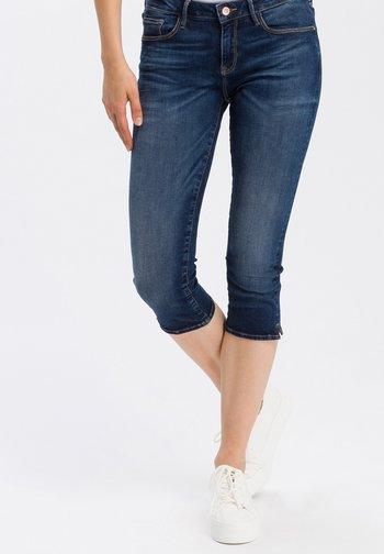 AMBER - Denim shorts - dark blue