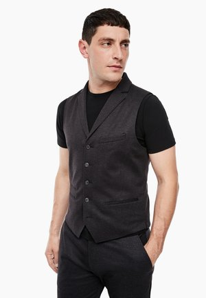 Waistcoat - purple/grey structured