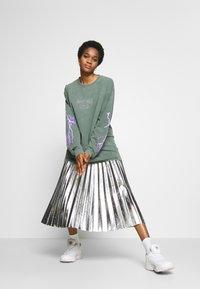 Topshop - METALLIC  MIDI - A-line skirt - silver - 1