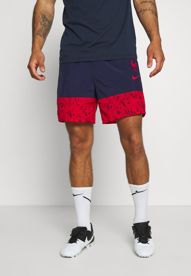 FRANKREICH FFF SHORT - Pantaloncini sportivi - blackened blue/university red