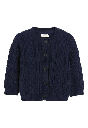 NAVY CABLE KNIT CARDIGAN (0MTHS-3YRS) - Kardigan - blue