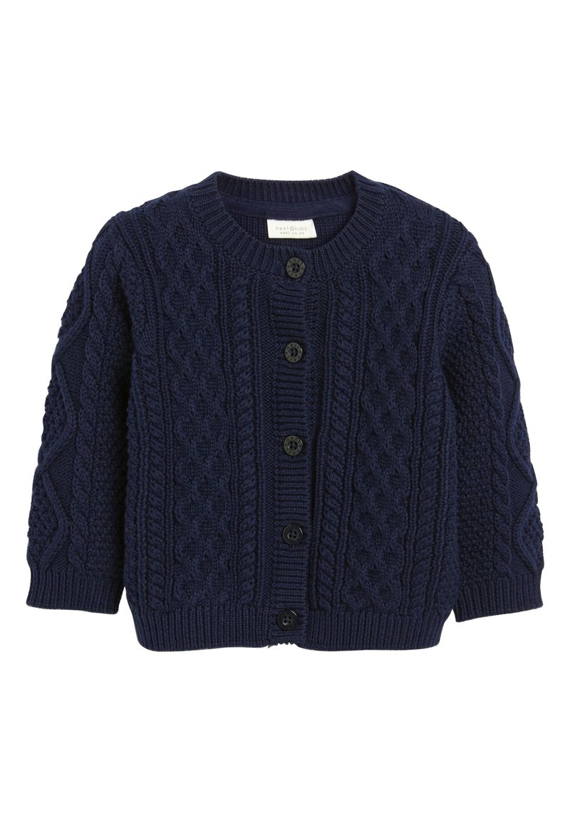 Next - NAVY CABLE KNIT CARDIGAN (0MTHS-3YRS) - Vest - blue