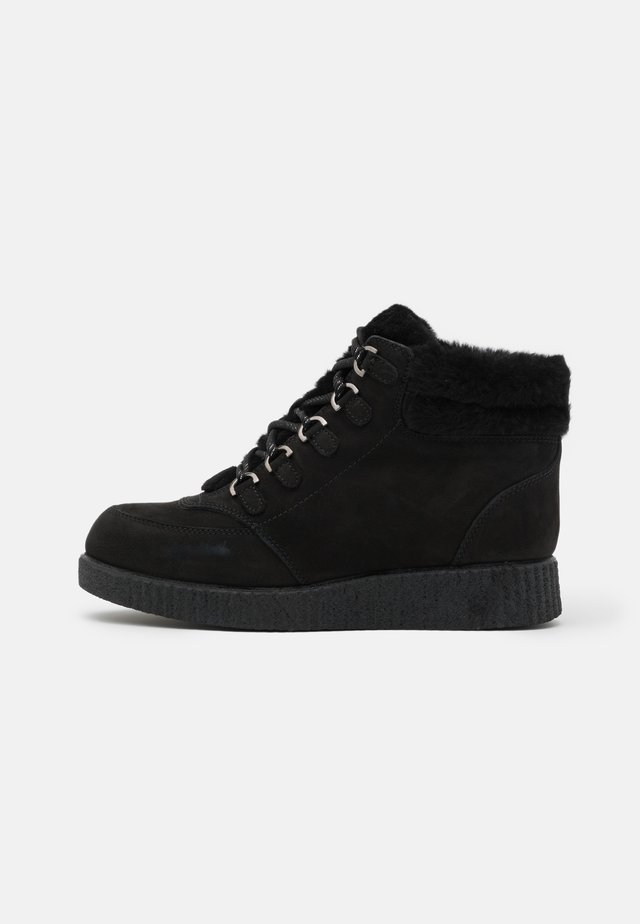 CARRY - Bottines à lacets - black