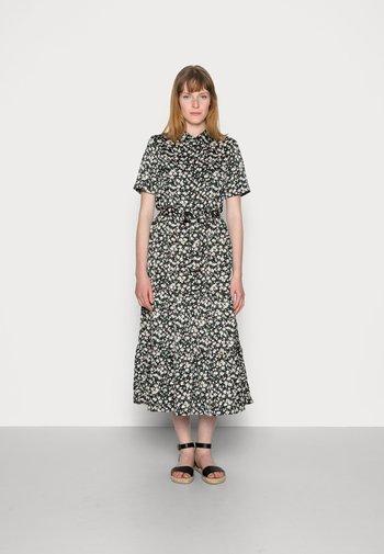 WOVEN BLOUSE DRESS - Shirt dress - black/white