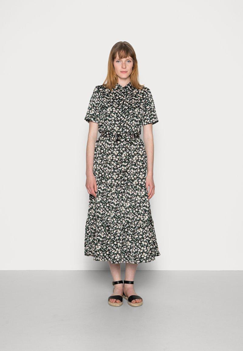 Anna Field - WOVEN BLOUSE DRESS - Sukienka koszulowa - black/white