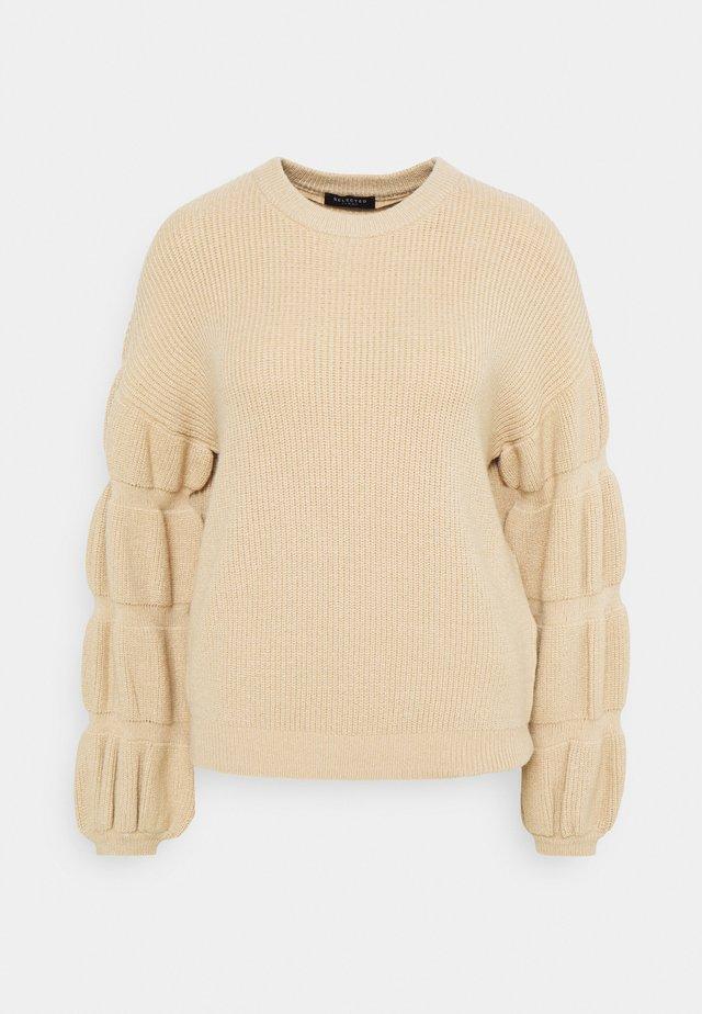 SLFMETTE O NECK - Pullover - sandshell